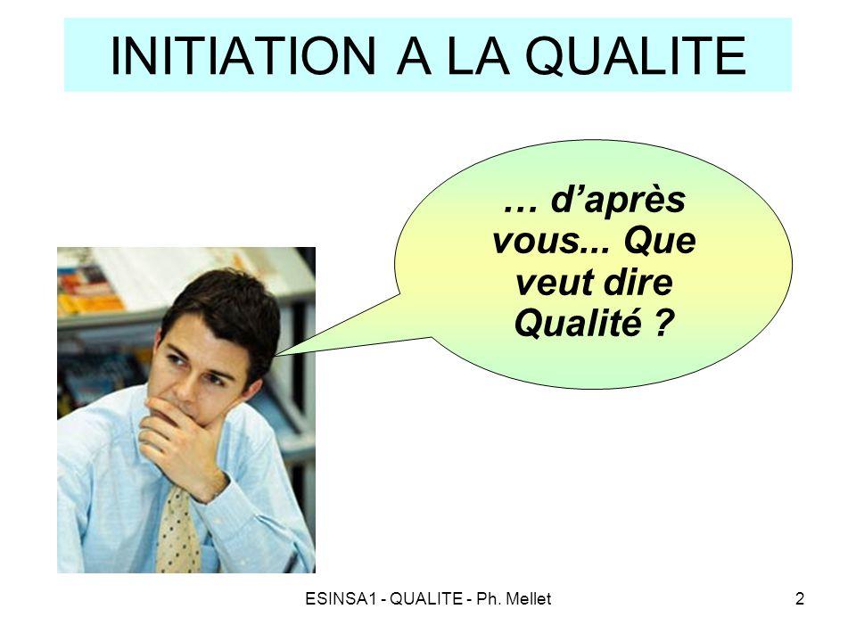 INITIATION A LA QUALITE