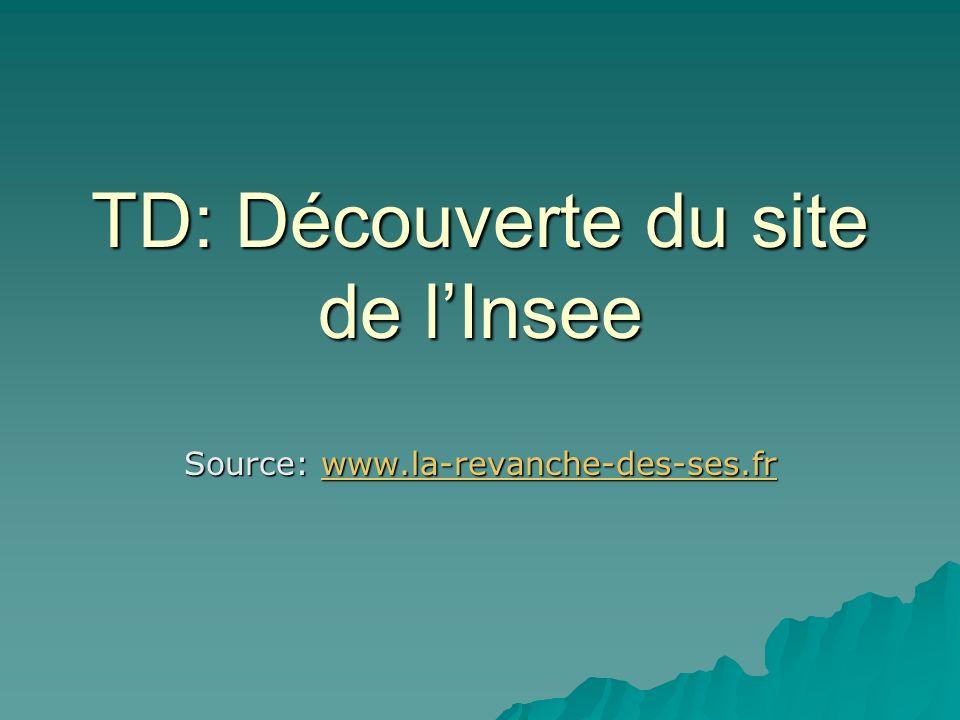 TD: Découverte du site de l'Insee