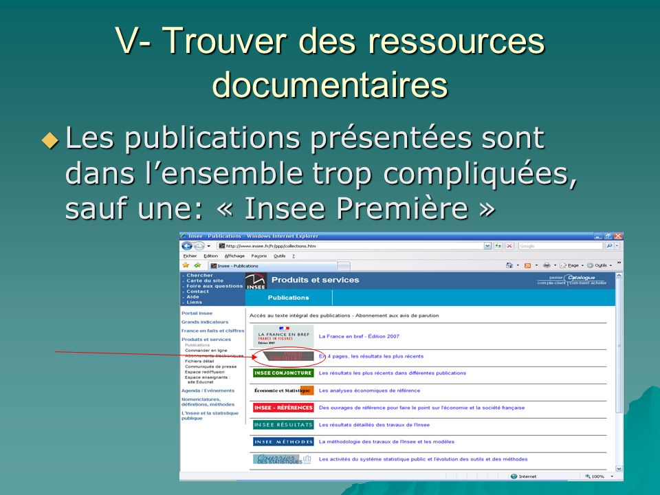 V- Trouver des ressources documentaires