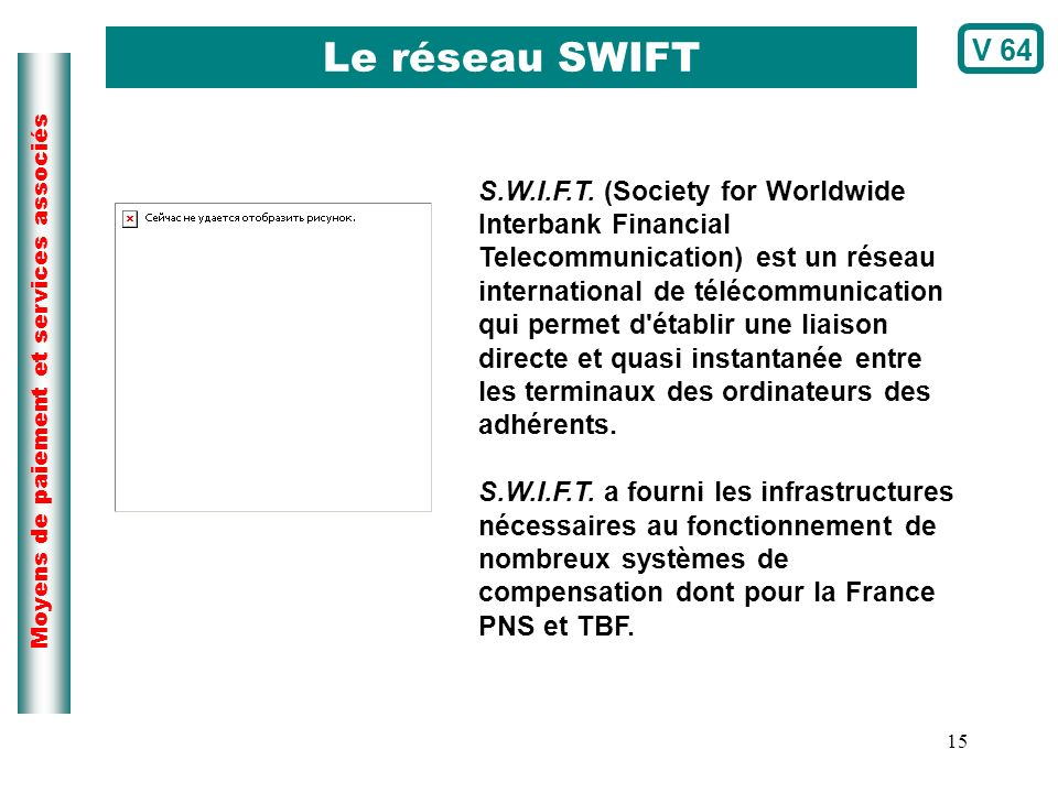 Le réseau SWIFT V 64.