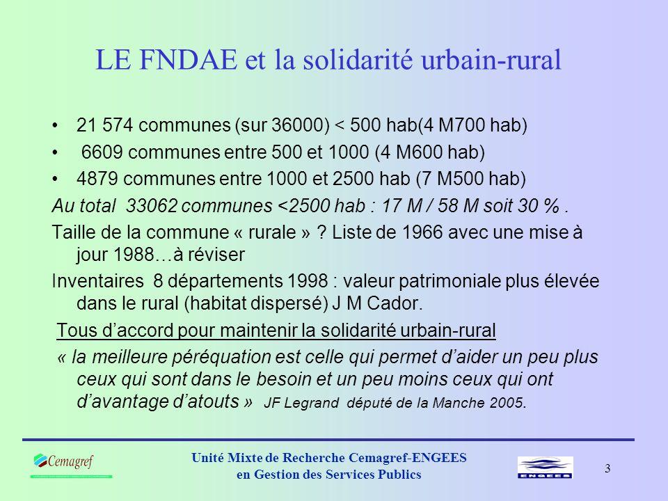 LE FNDAE et la solidarité urbain-rural