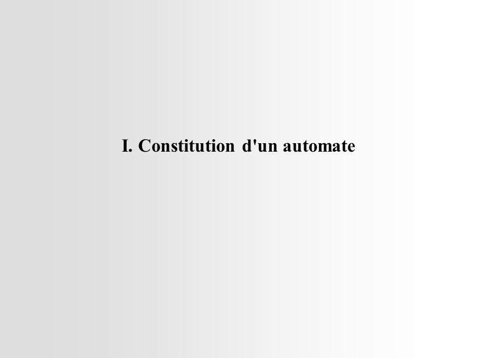 I. Constitution d un automate