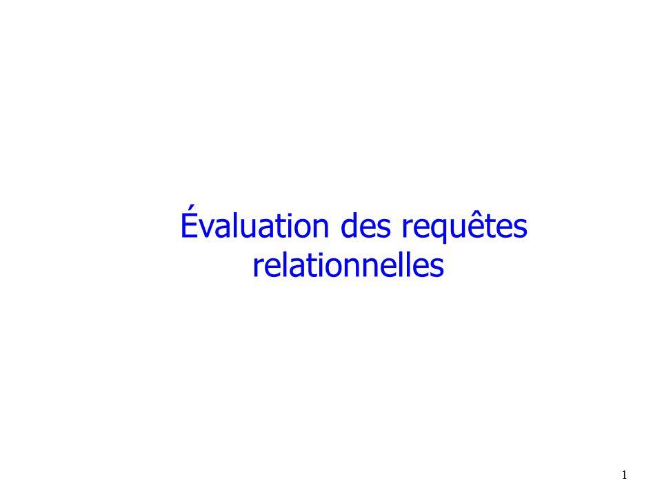 Évaluation des requêtes relationnelles