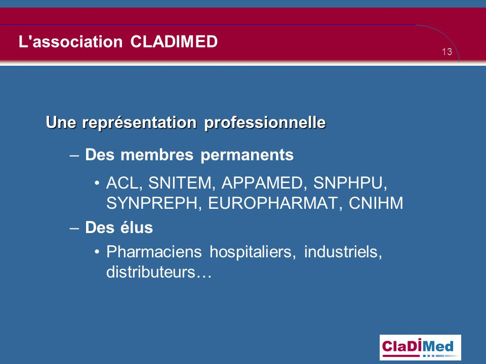 L association CLADIMED