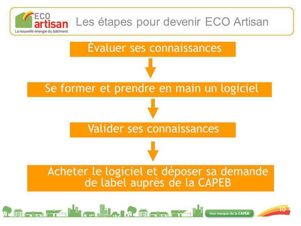 Les étapes pour devenir ECO Artisan
