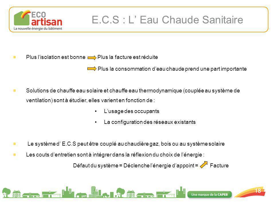 E.C.S : L' Eau Chaude Sanitaire