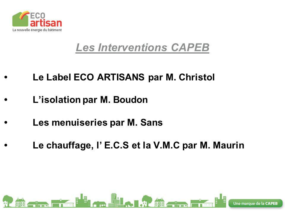 Les Interventions CAPEB