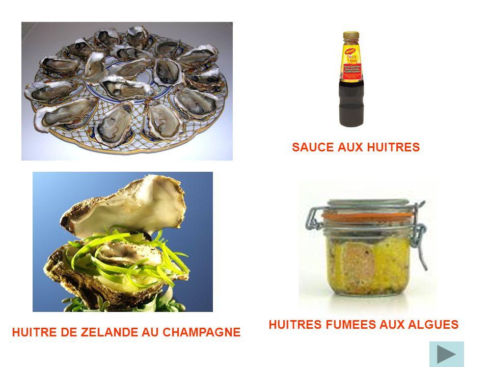 HUITRES FUMEES AUX ALGUES HUITRE DE ZELANDE AU CHAMPAGNE