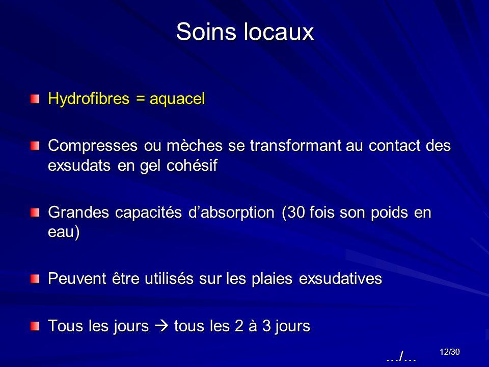 Soins locaux Hydrofibres = aquacel