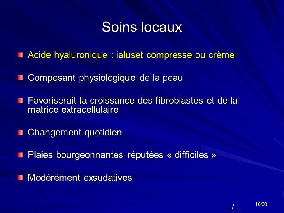 Soins locaux Acide hyaluronique : ialuset compresse ou crème