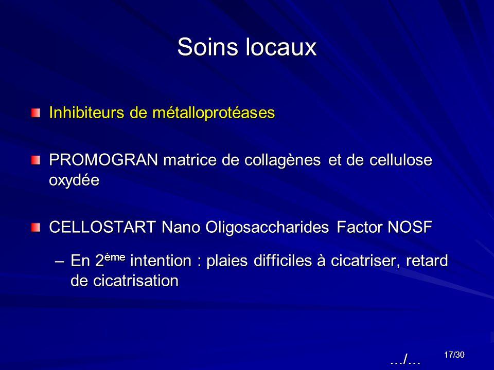 Soins locaux Inhibiteurs de métalloprotéases