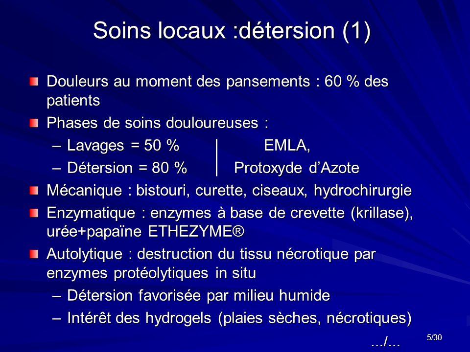 Soins locaux :détersion (1)