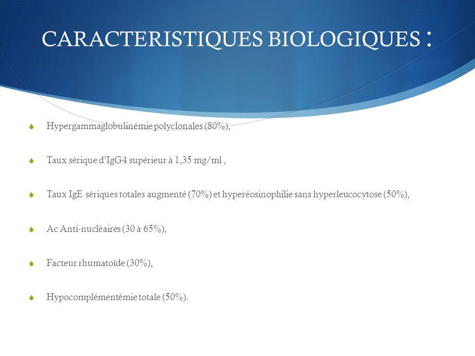 CARACTERISTIQUES BIOLOGIQUES :