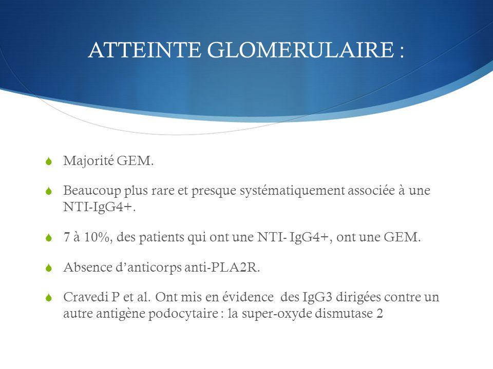 ATTEINTE GLOMERULAIRE :