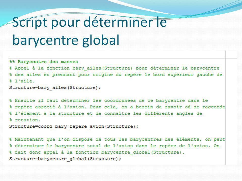 Script pour déterminer le barycentre global