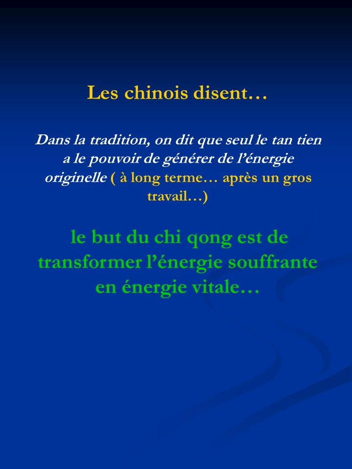 Les chinois disent…