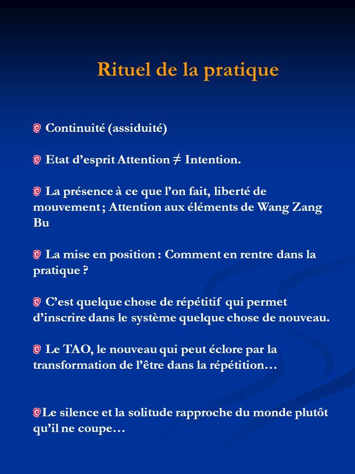 Rituel de la pratique Continuité (assiduité)