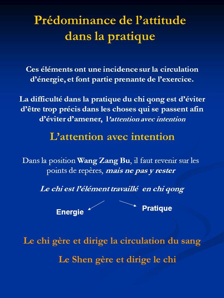 Prédominance de l'attitude dans la pratique