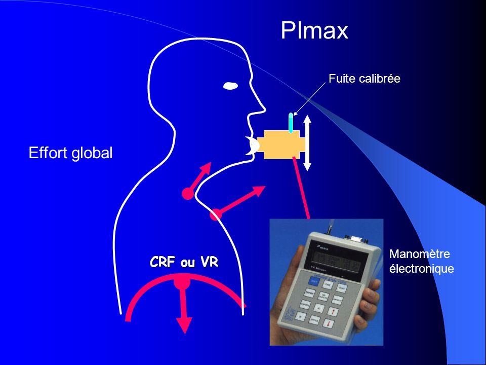 PImax Fuite calibrée Effort global Manomètre électronique CRF ou VR