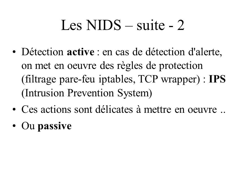 Les NIDS – suite - 2