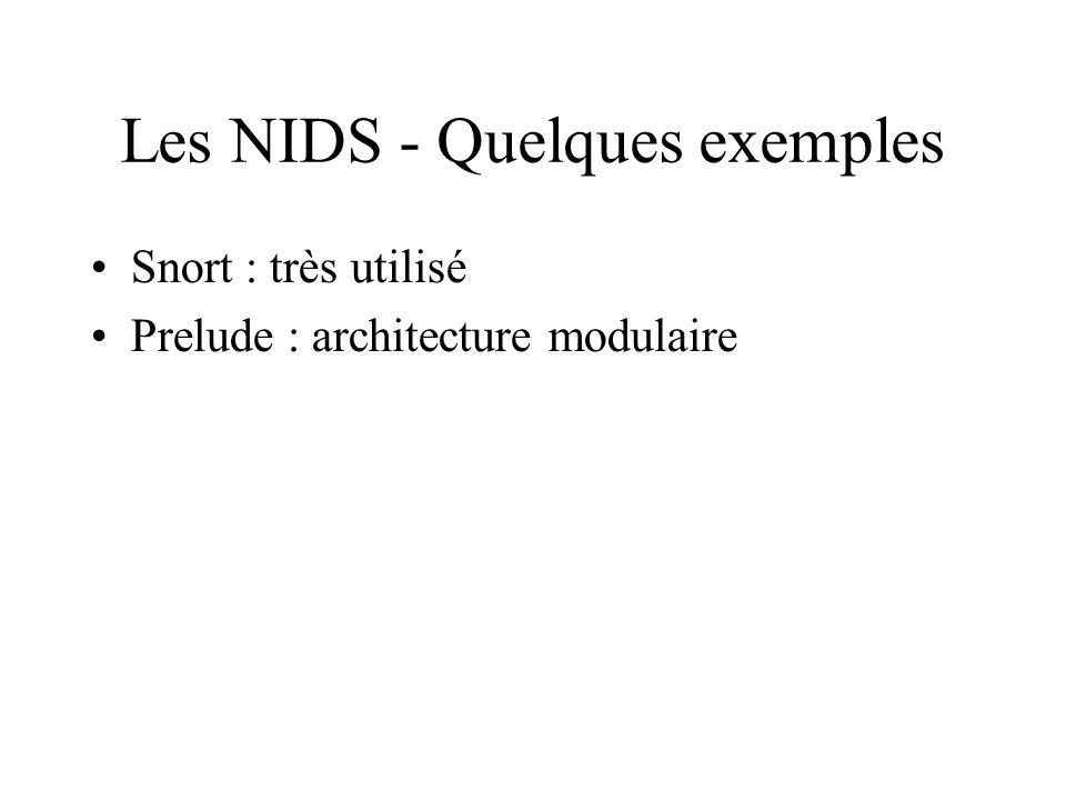 Les NIDS - Quelques exemples