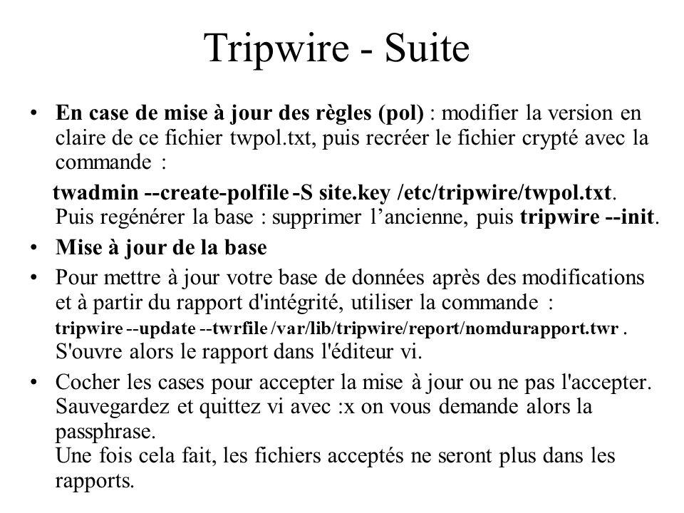Tripwire - Suite