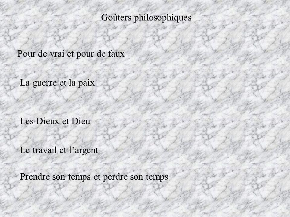 Goûters philosophiques