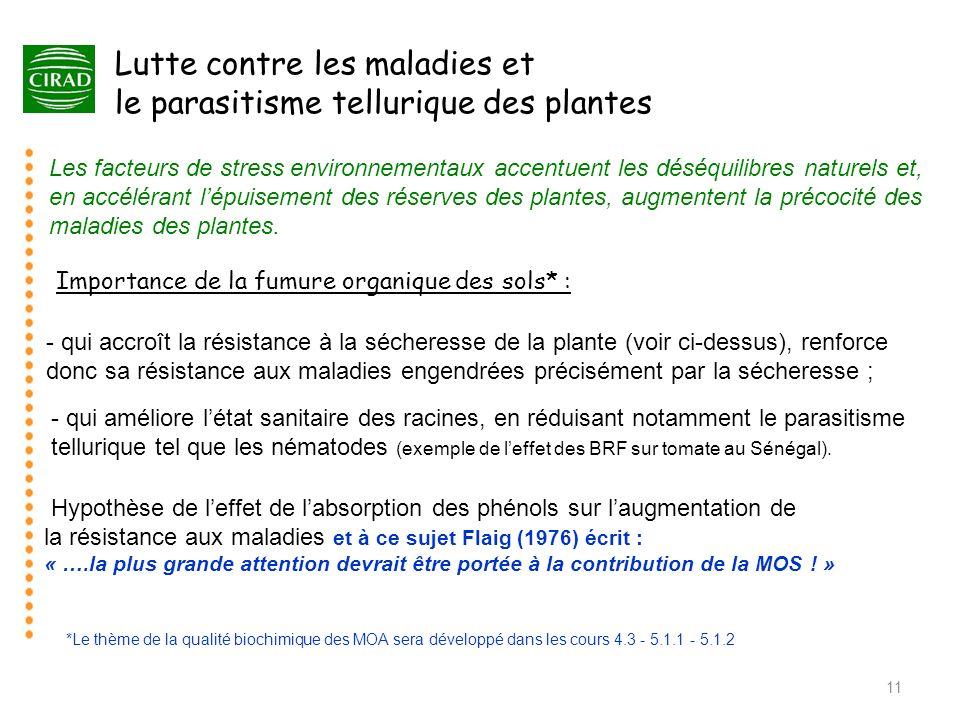 Lutte contre les maladies et le parasitisme tellurique des plantes