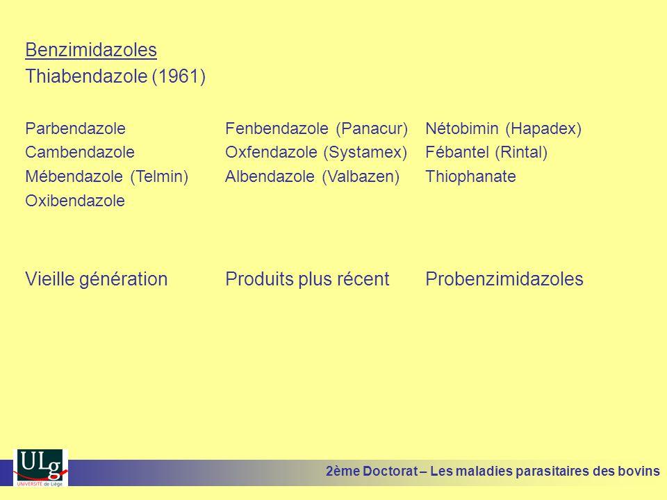 Vieille génération Produits plus récent Probenzimidazoles