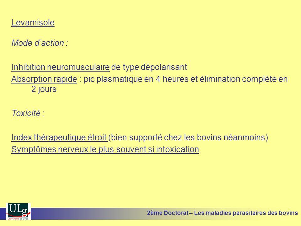 Inhibition neuromusculaire de type dépolarisant