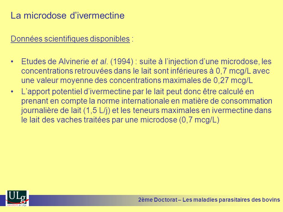 La microdose d'ivermectine