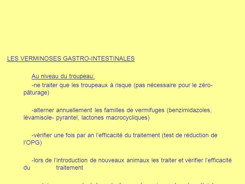 LES VERMINOSES GASTRO-INTESTINALES