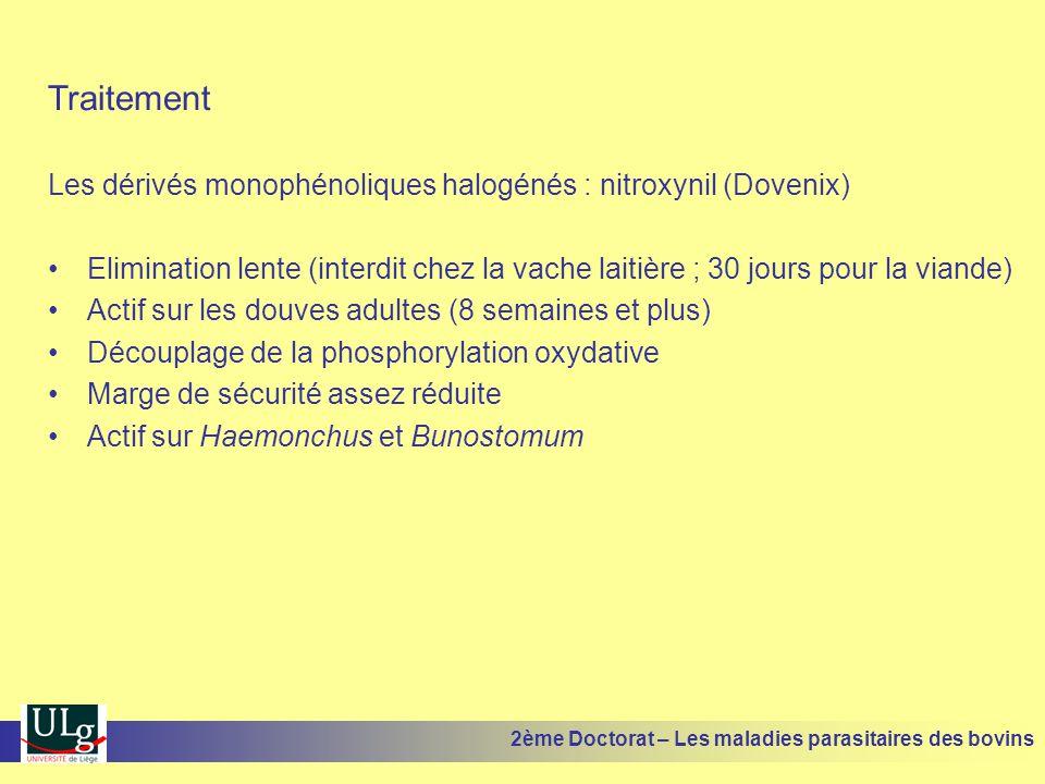 Traitement Les dérivés monophénoliques halogénés : nitroxynil (Dovenix)