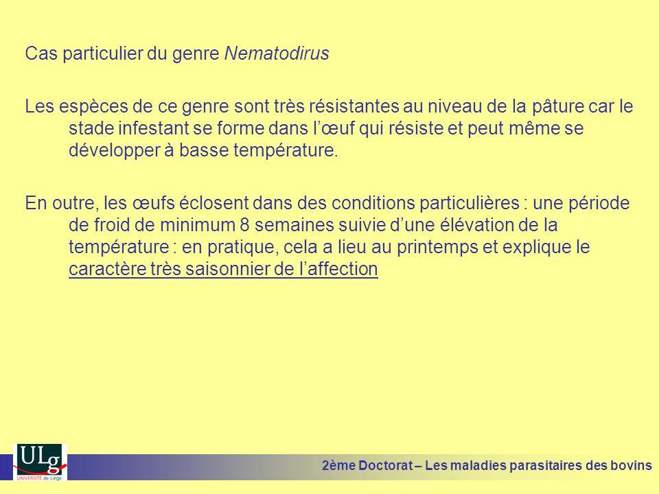 Cas particulier du genre Nematodirus