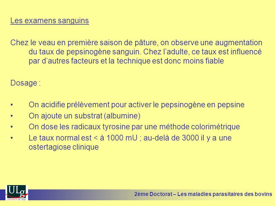 On acidifie prélèvement pour activer le pepsinogène en pepsine