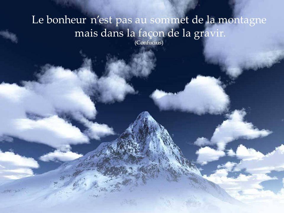 Le bonheur n'est pas au sommet de la montagne