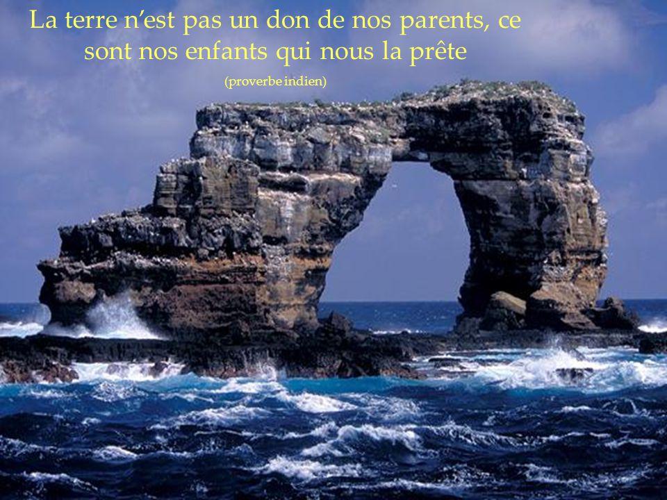 La terre n'est pas un don de nos parents, ce sont nos enfants qui nous la prête