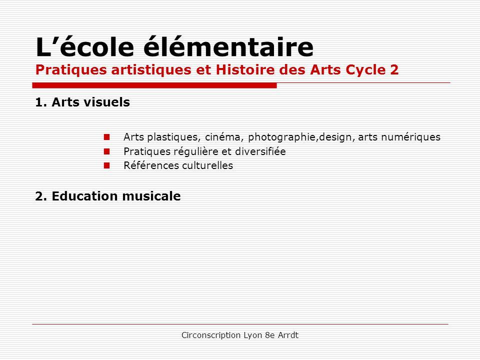 L'école élémentaire Pratiques artistiques et Histoire des Arts Cycle 2