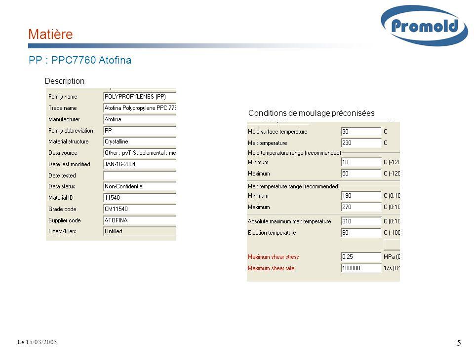 Matière PP : PPC7760 Atofina Description