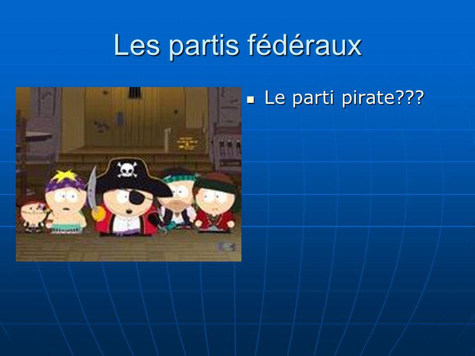 Les partis fédéraux Le parti pirate