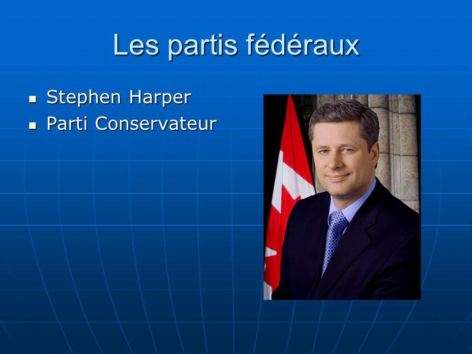 Les partis fédéraux Stephen Harper Parti Conservateur