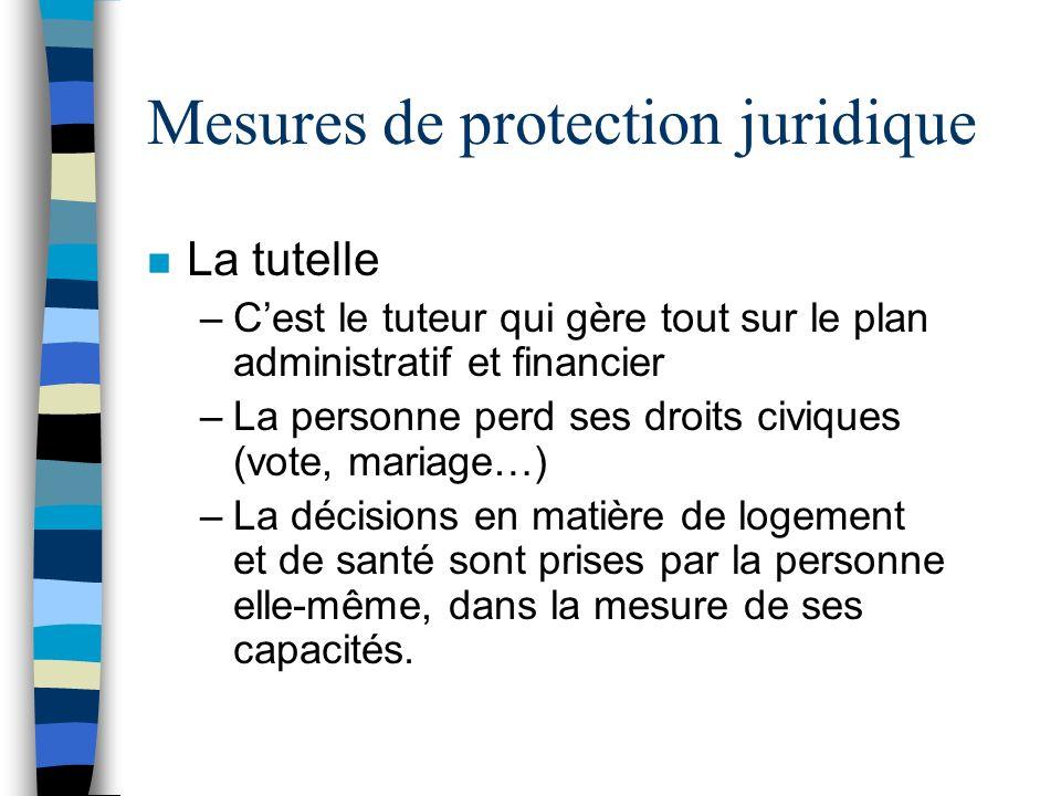Mesures de protection juridique