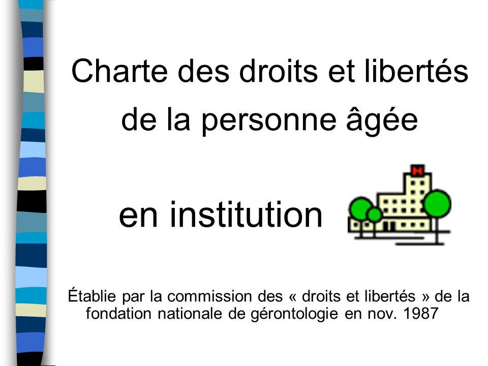 Charte des droits et libertés