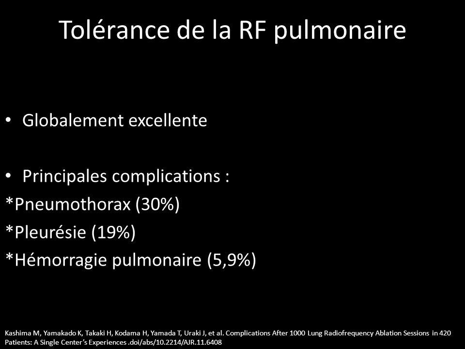 Tolérance de la RF pulmonaire