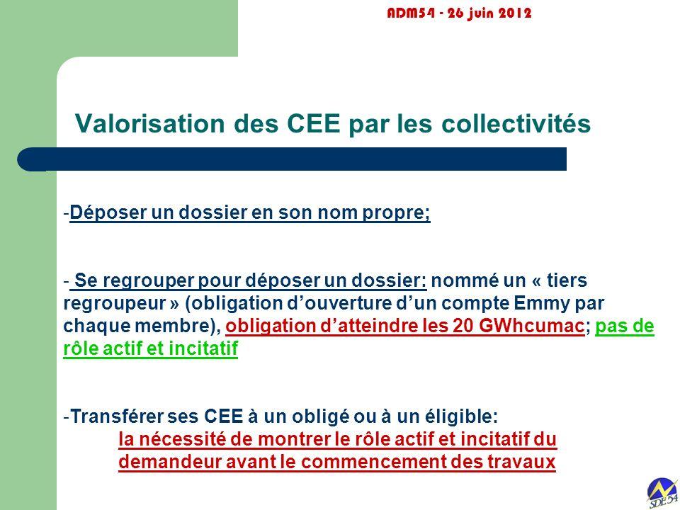 Valorisation des CEE par les collectivités