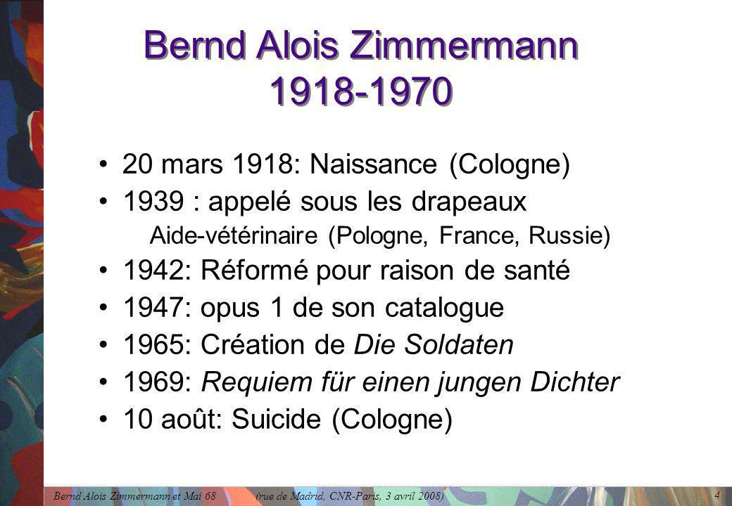 Bernd Alois Zimmermann 1918-1970