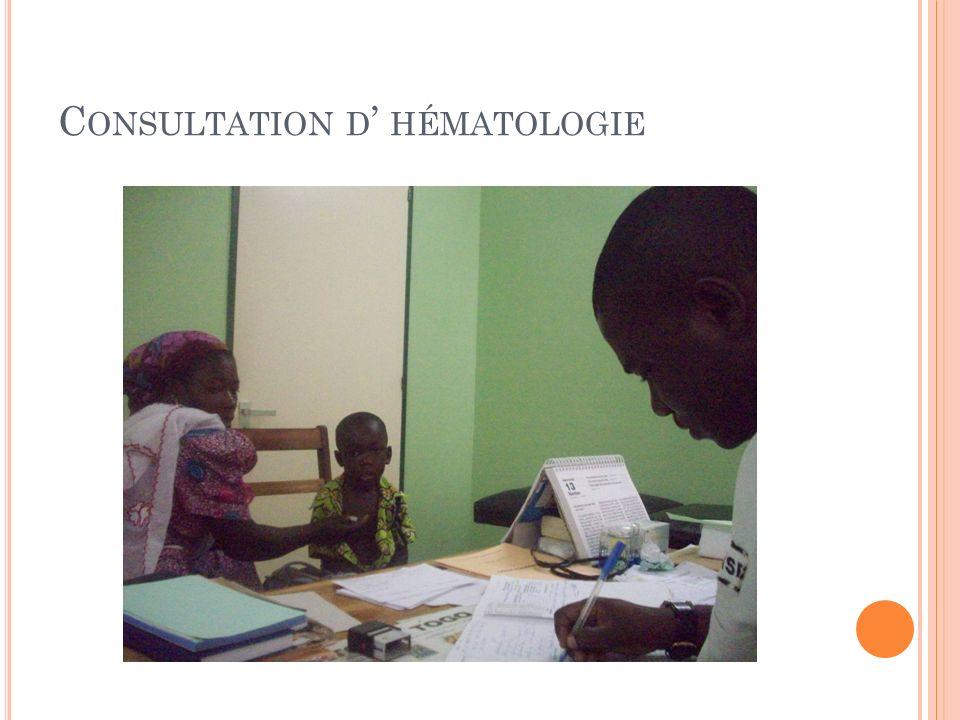 Consultation d' hématologie