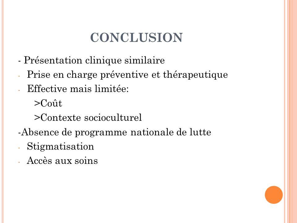CONCLUSION - Présentation clinique similaire