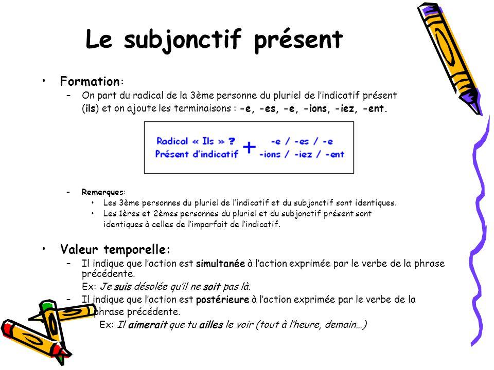le verbe essayer au subjonctif present Conjugaisons similaires au verbe essayer retrouvez ci-dessous une liste de verbes pouvant se conjuguer sur le même modèle que le verbe essayer :.