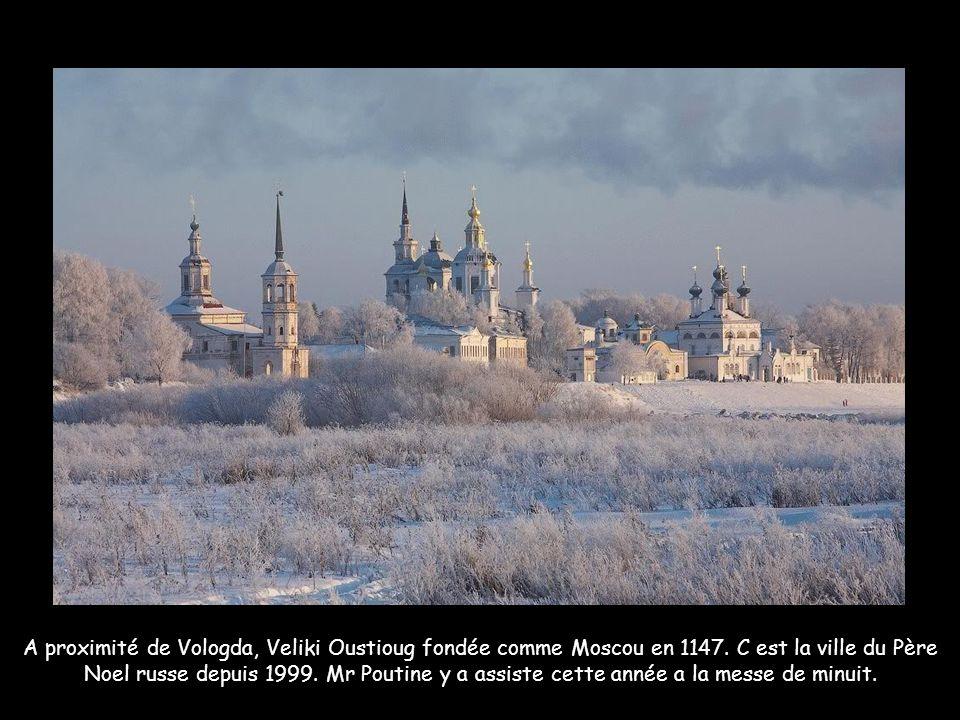 A proximité de Vologda, Veliki Oustioug fondée comme Moscou en 1147
